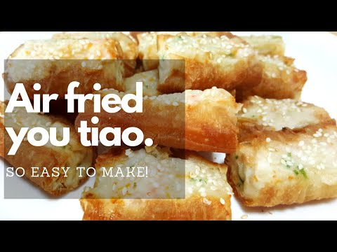 Airfryer fried fish paste you tiao easy air fryer for How long to air fry fish