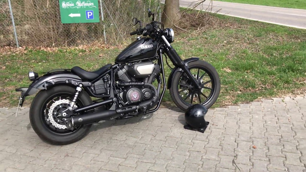 yamaha xv 950 bolt with falcon exhaust youtube. Black Bedroom Furniture Sets. Home Design Ideas