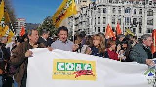Movilización ganaderos Asturias.