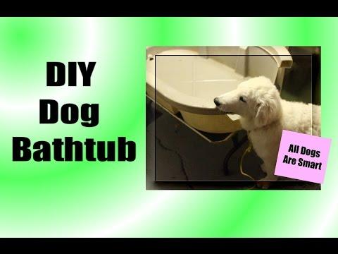 DIY Dog Bathtub