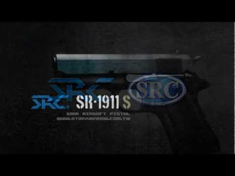 SRC Full Metal Gas Blow Back 6mm Airsoft 1911-S Pistol Shooting test