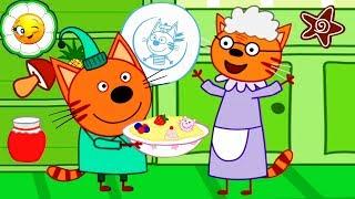 Три Кота Кулинарное Шоу #1  Давай всех накормим вкусной кашей! Новая детская обучающая игра