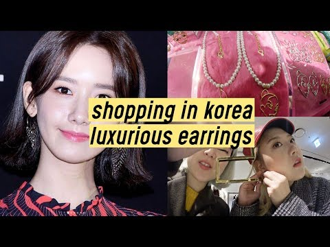 "Shopping in Korea: Luxurious Earrings ""Viollina"" (Worn by Kpop Celebrities!!) 