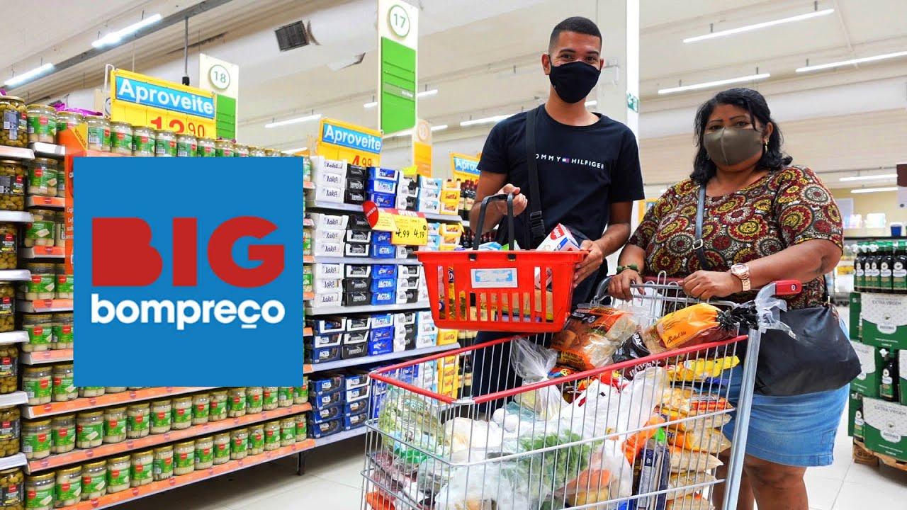 Compras do mês no supermercado Big Bompreço 🛒 | Vale a pena?