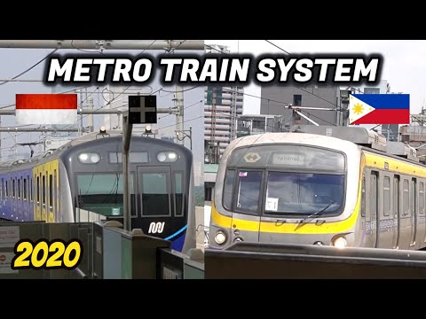 Indonesia & Philippines Metro Train System Compilation | LRT1 MNL, LRT JKT, LRT2 MNL, MRT JKT