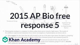 2015 AP Biology free response 5