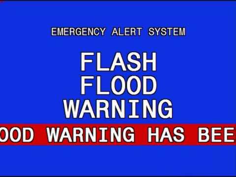 Emergency Alert System Flash Flood Warning - YouTube