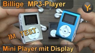 Billig MP3 Player im Test: Mini Player mit Display + Clip für 2,50€ / microSD bis 16GB / MP3 WMA WAV