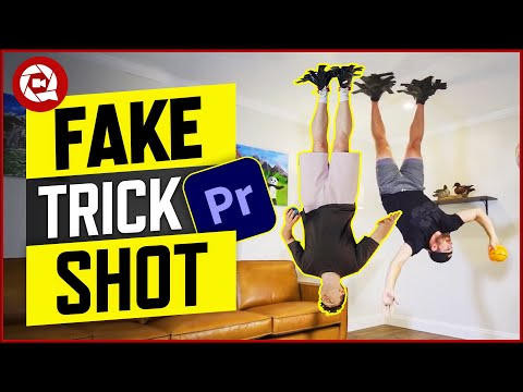 FAKE UNPREDICTABLE Dude Perfect TRICK SHOT (Premiere Pro)