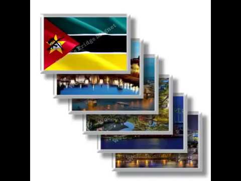 MZ - Travels in Mozambique - rectangular magnets and souvenirs