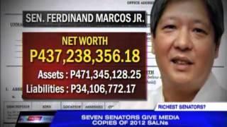 Marcos richest among 7 senators with SALNs