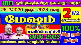 மேஷம் சனிப்பெயர்ச்சி பலன்கள் 2020  Mesham  Sani peyarchi Palangal 2020-2023   2020 - 2023