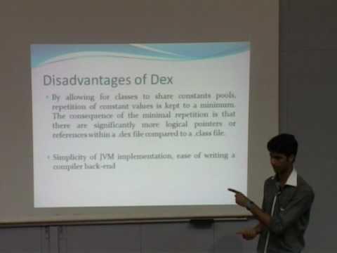Summer Internship P7 Dalvik Virtual Machine VS Java Virtual Machine