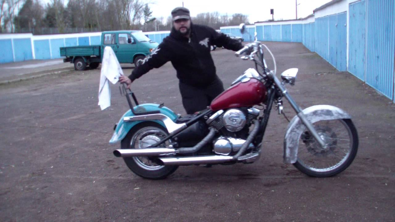 kawasaki vn 800 with harley softail fender progress youtube. Black Bedroom Furniture Sets. Home Design Ideas