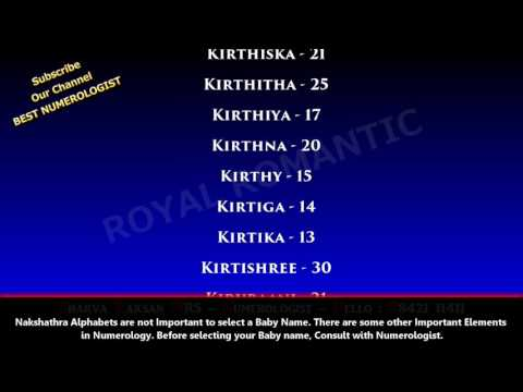 GIRL BABY NAME STARTING WITH K SERIES 4 - BEST NUMEROLOGIST IN PUDUKOTTAI  ARANTHANGI  9842111411