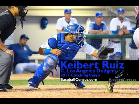 Keibert Ruiz, C, Los Angeles Dodgers — 2017 Catching Video