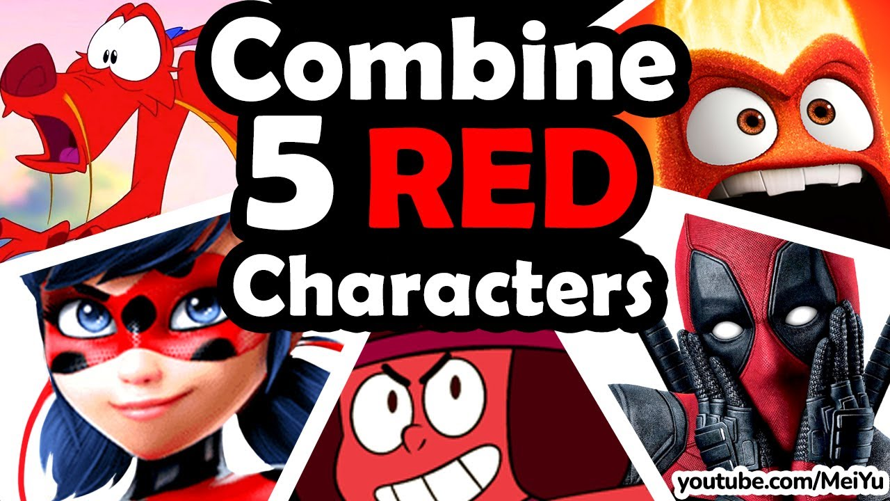 How Would These 5 Red Characters Look Combined As 1?   RED CHARACTER FUSION Art Challenge   Mei Yu