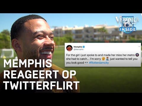 Memphis reageert op Twitterflirt met meisje: 'Ik hield de file op' | ORANJE