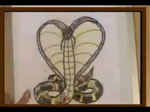 how to draw a cobra