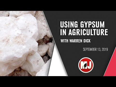 Using Gypsum in Agriculture | Warren Dick | September 13, 2019