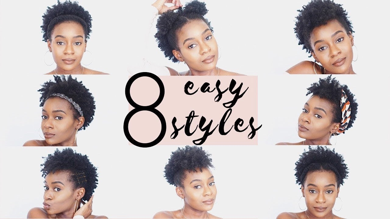 4c natural hairstyles | 8 easy hairstyles for short 4c natural hair