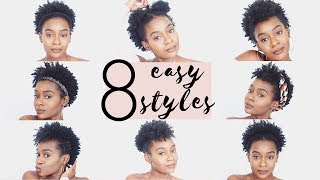 4C NATURAL HAIRSTYLES   8 Easy Hairstyles For Short 4C Natural Hair