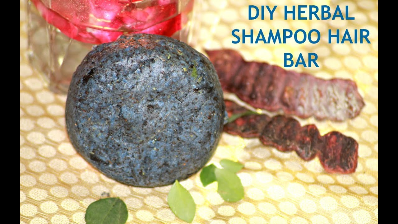 diy herbal shampoo bar for healthy hair, anti-hair fall, anti