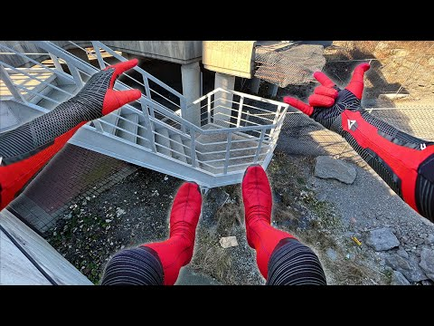 Spiderman Parkour POV In Real Life (Far From Home)