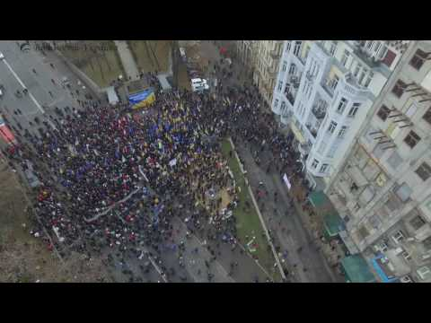 Митинг Саакашвили в Киеве. Обзор с высоты полета