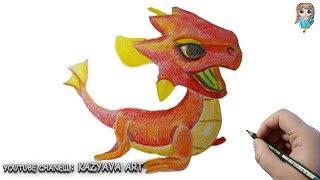 Как нарисовать Дракона КИПЕНИЕ | Dragon Mania Legends.Как раскрасить дракона цветными карандашами.