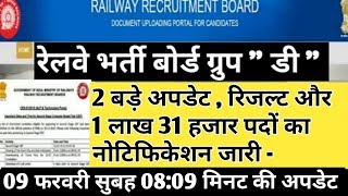 Railway group d result 2018 Big Update || Rrb group d 2018 result, rrb result 9 February New update
