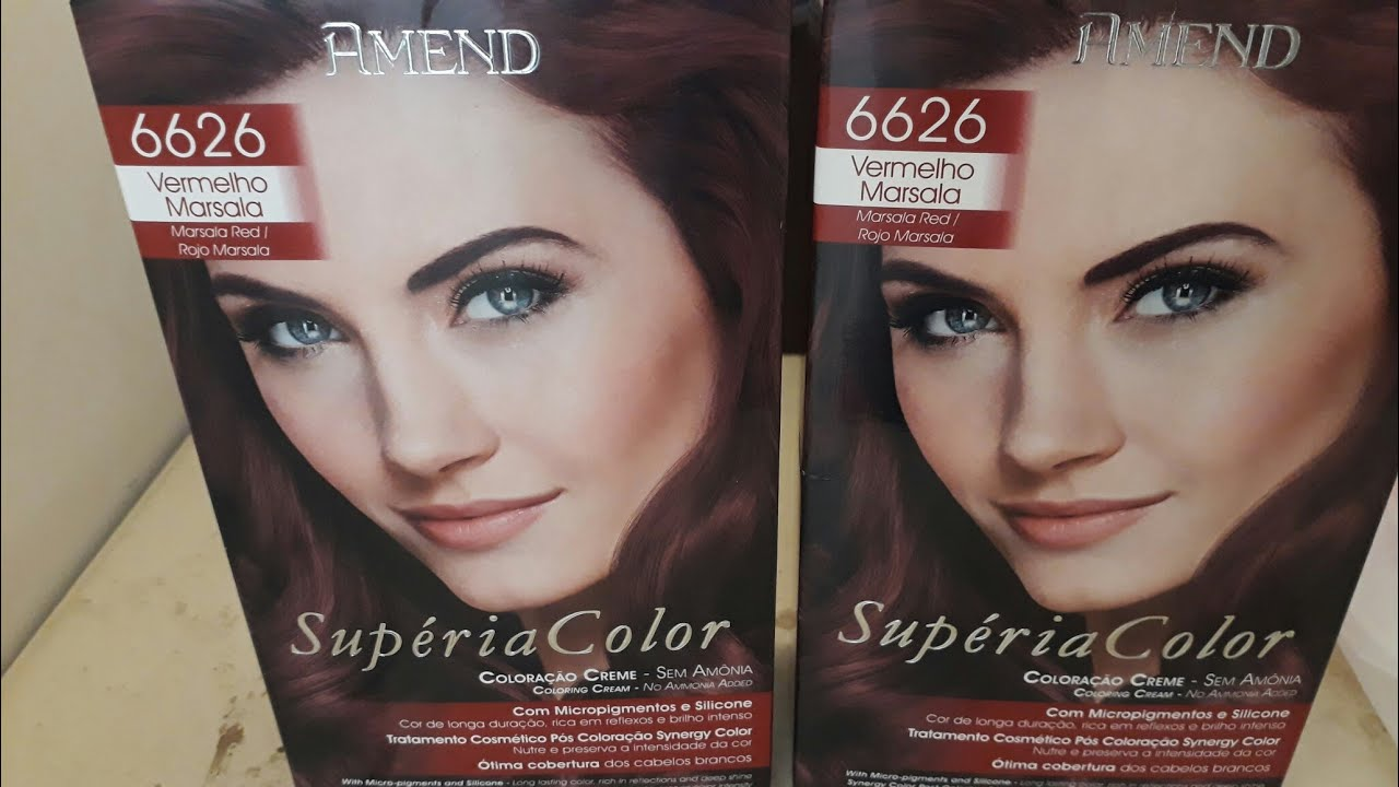430bdc528c12b Coloração Amend Supéria Color marsala 66.26  vermelhosmarsala - YouTube