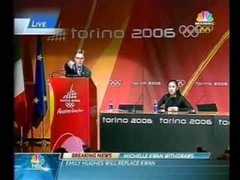 Michelle Kwan Withdraws 2006 Olympics (Press Conference - February 12 2006)
