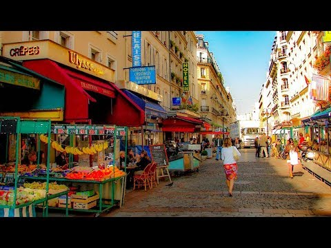 A Walk Up The Famed Market Street of Rue Cler, Paris