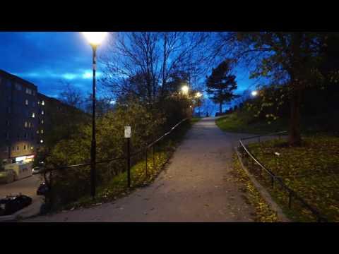 Sweden, Stockholm, walking from Hostel ACCO @ Ansgariegatan 10 to Västerbron