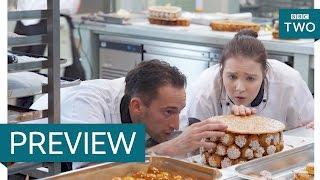 Cake construction - Bake Off Creme de la Creme: Series 2 Episode 5 Preview - BBC Two