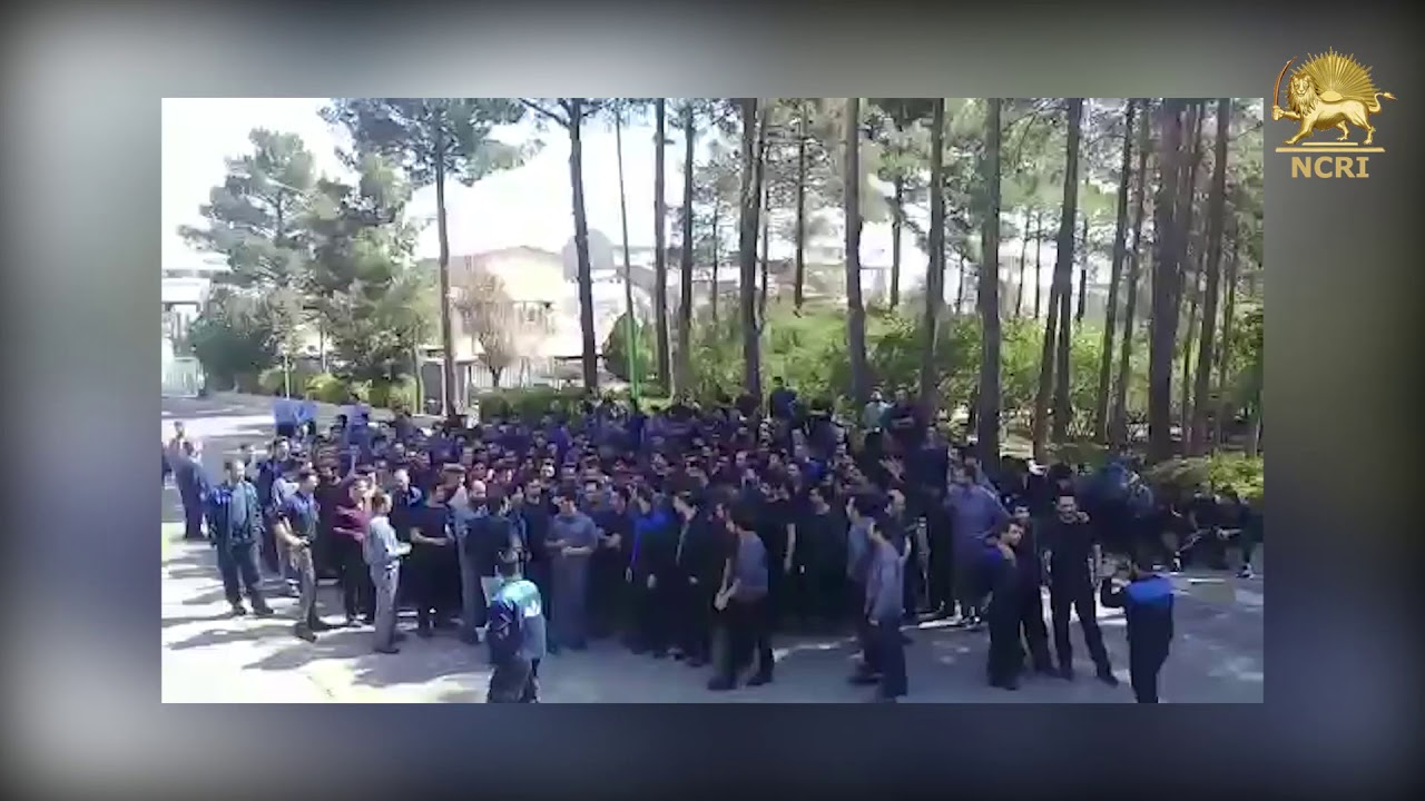 SAVEH, Northern Iran, Protests by the workers of Pars Tire