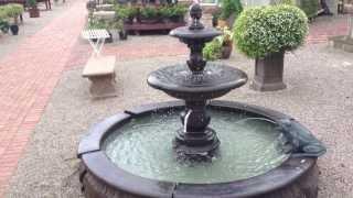 Large Estate Fountain- Draining the Caterina Garden Fountain