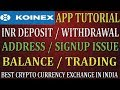 Koinex App Tutorial | Deposit | Withdraw | Signup | KYC | How to use Koinex App| TechHelpInHindi