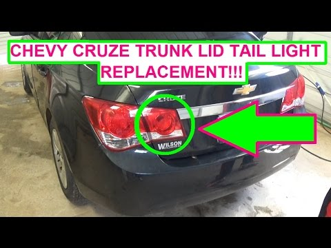 hqdefault chevrolet cruze trunk lid tail light bulb and assembly replacement 2004 Silverado Tail Light Wiring Diagram at readyjetset.co