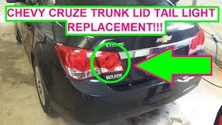 Chevrolet Cruze Trunk Lid Tail Light Bulb And Assembly Replacement 2010 2011 2012 2013 2014 2015 Youtube