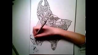 Salmon Spawing Speed Drawing - The Whimsical Wild