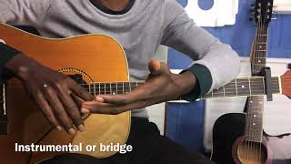 Sam Smith - Fix you(live) guitar tutorial