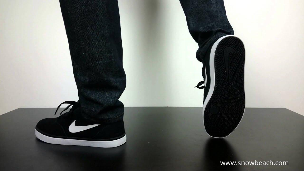Nike Sb Check Black White 705265 006 Youtube