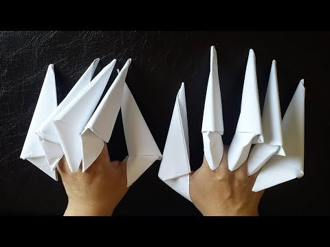 How to make The Dragon Claws   paper claws  Step by Step tutorial