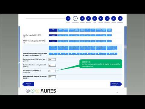 AURES Auction Designer – an interactive online tool to design RES auctions