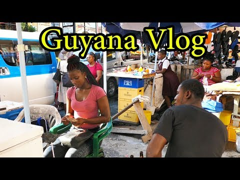 Vlog Guyana Georgetown - Sept 2017 -  St Georges Church and Stabroek Market