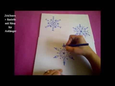 Schneeflocken Zeichnen Weihnachtskarten Selber Malen Basteln