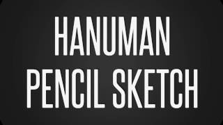 How to Draw Hanuman pencil Sketch- Simple Easy steps