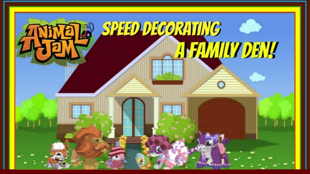 Download Animal Jam: Speed Decorating A Big Family Den!